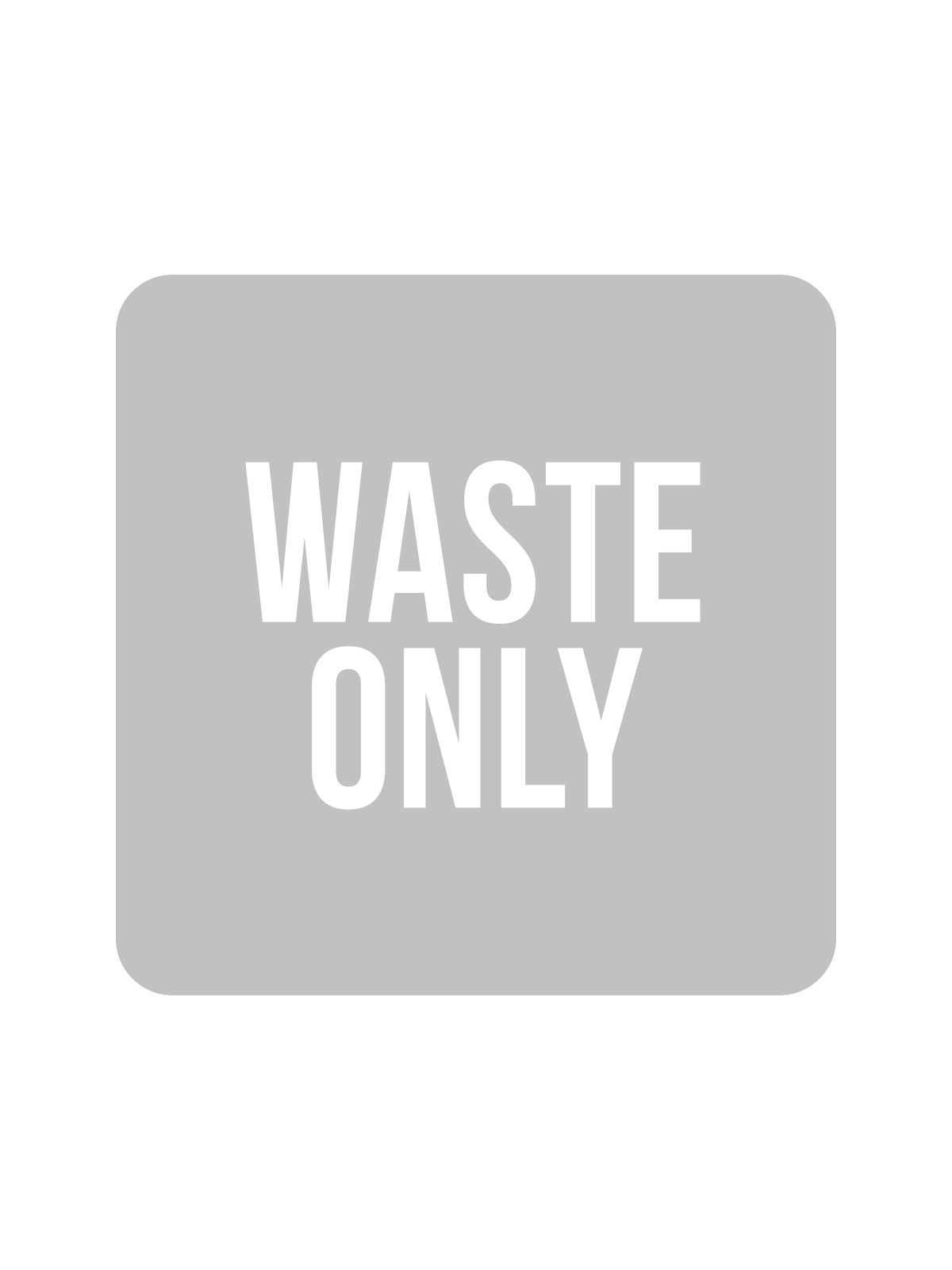 SQUARE LABEL KIDS - WASTE ONLY