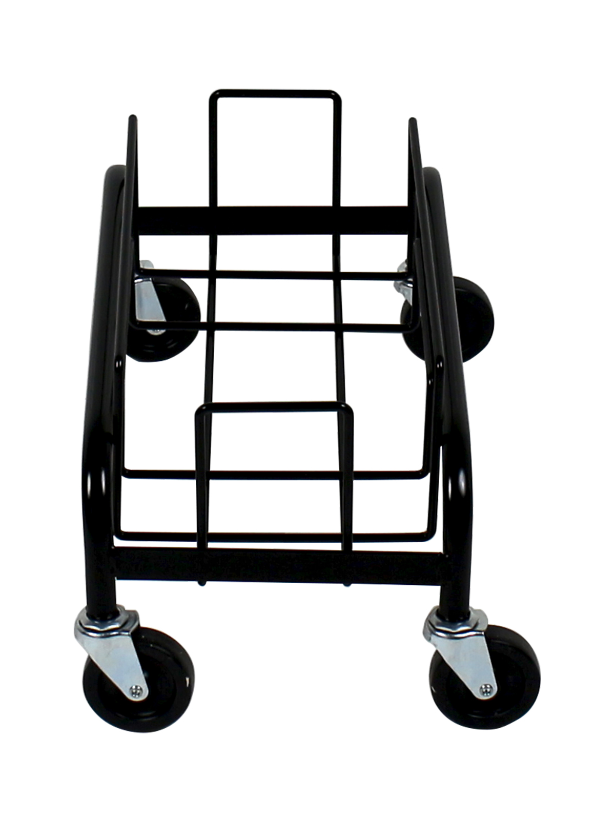 WASTE WATCHER® - SINGLE DOLLY [1 DOLLY, 4 CASTERS] - BLACK