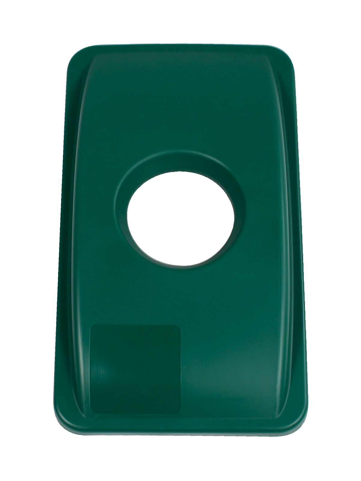 WASTE WATCHER - Single - Lid - Circle - Dark Green