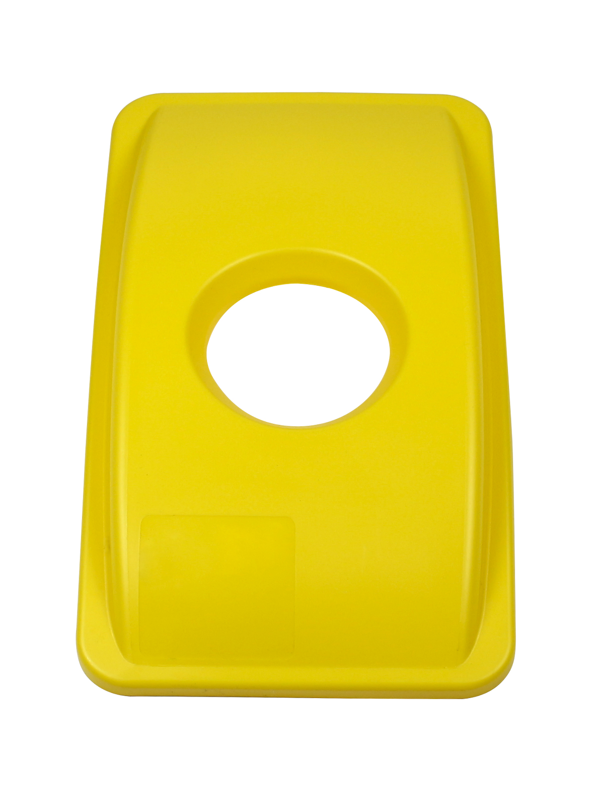WASTE WATCHER - Single - Lid - Circle - Yellow