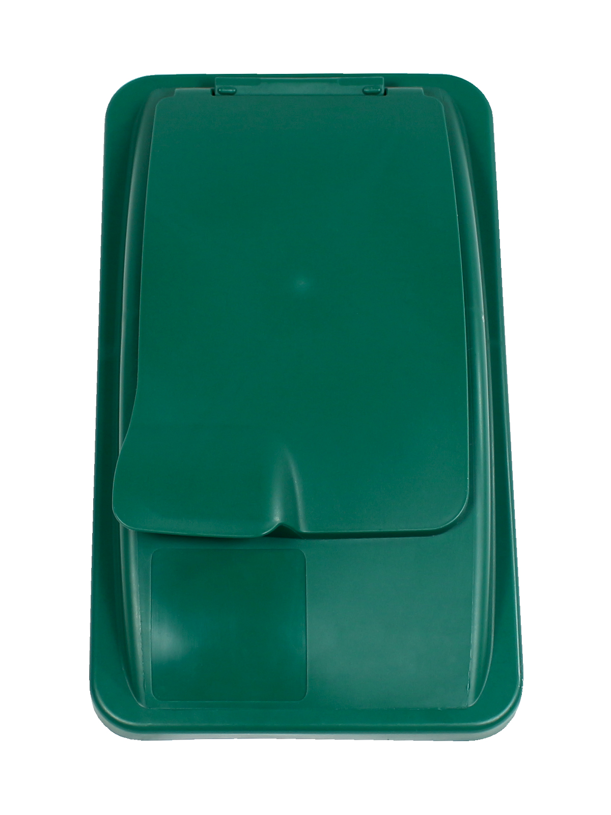 WASTE WATCHER - Single - Lid - Solid Lift - Dark Green