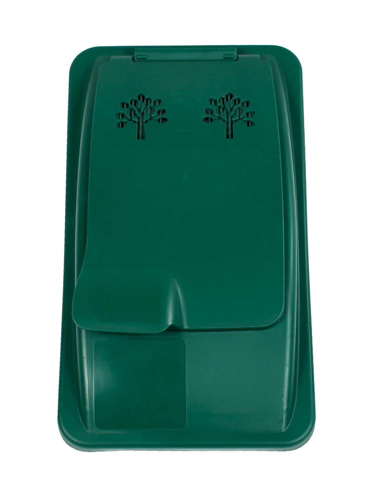 WASTE WATCHER - Single - Lid - Vented Lift - Dark Green