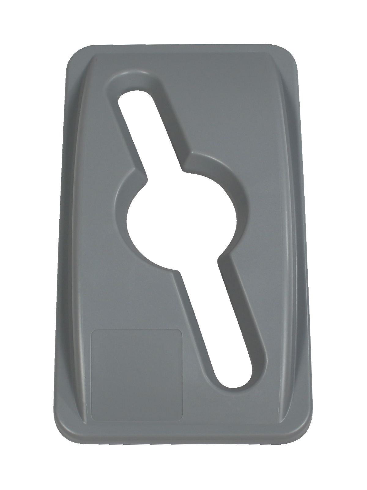 WASTE WATCHER - Single - Lid - Mixed - Executive Grey