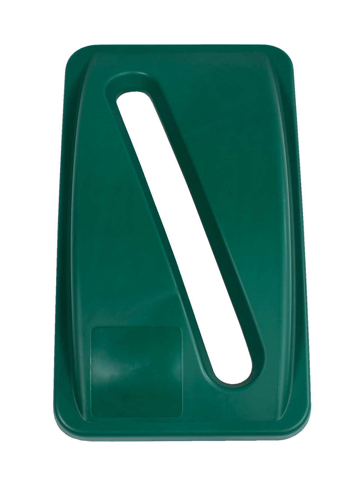 WASTE WATCHER - Single - Lid - Slot - Dark Green