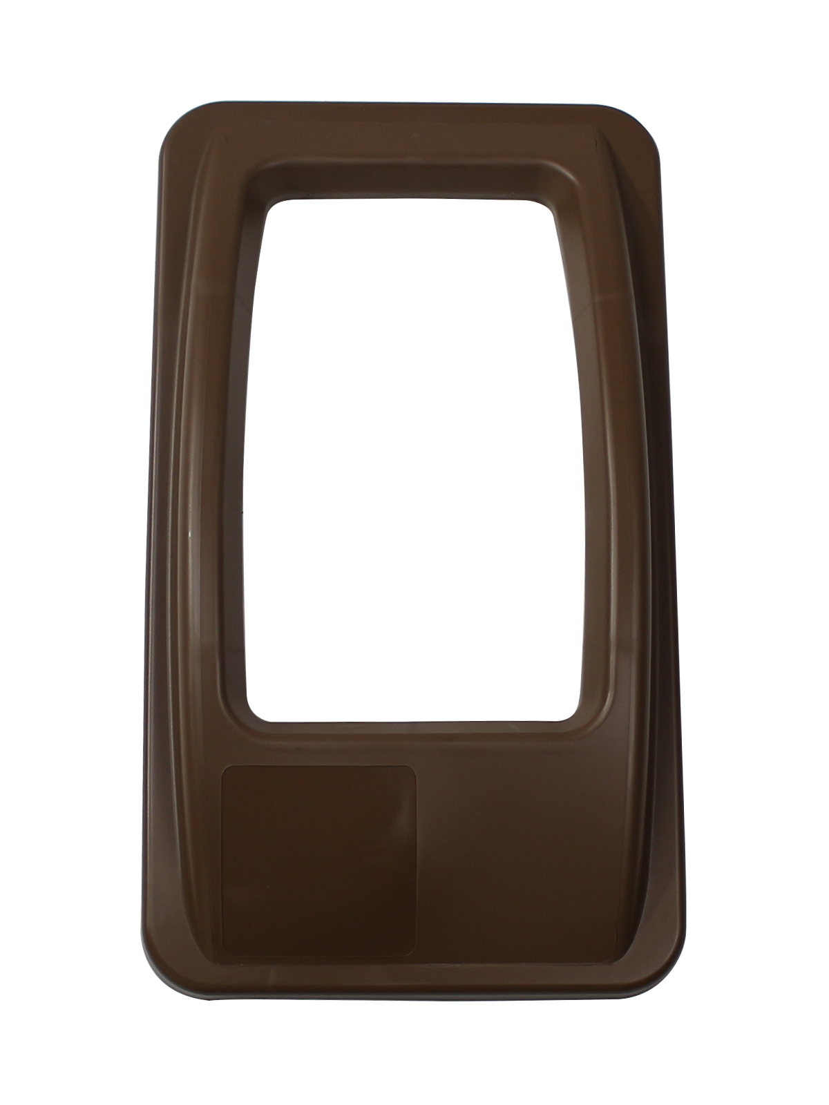 WASTE WATCHER - Single - Lid - Full - Brown