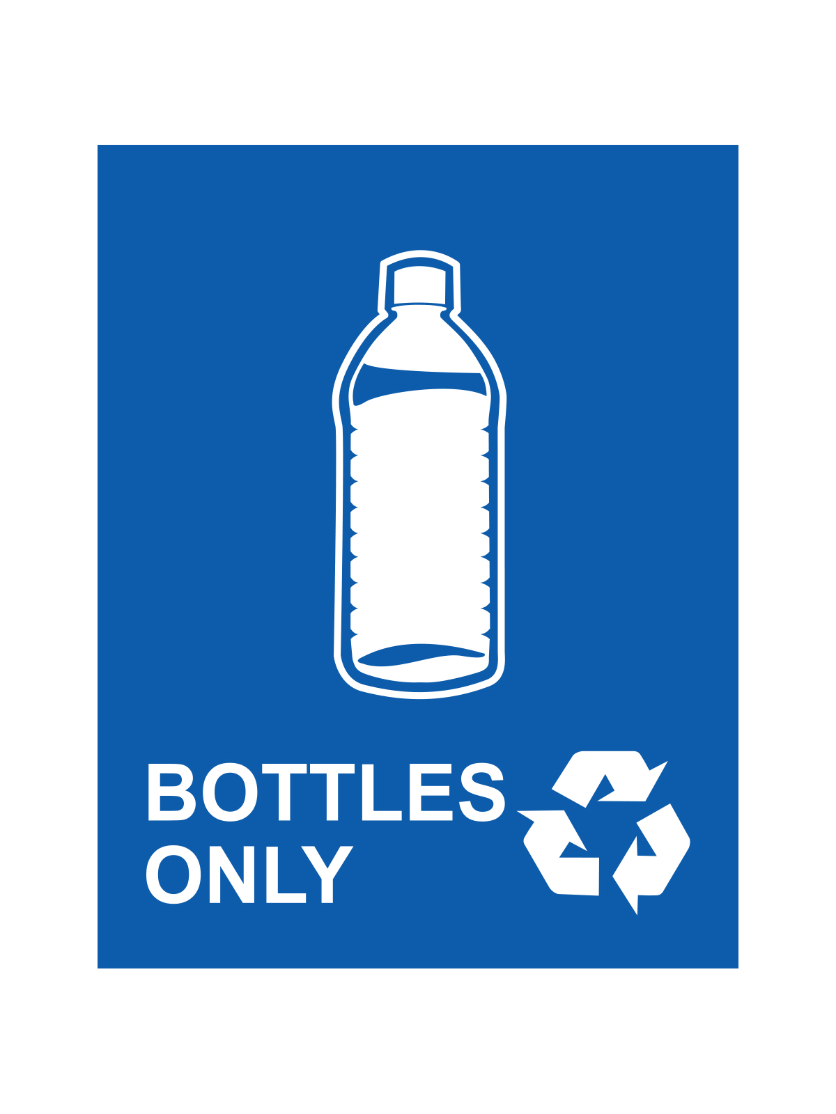 WASTE WATCHER® SIGN - BOTTLES ONLY title=