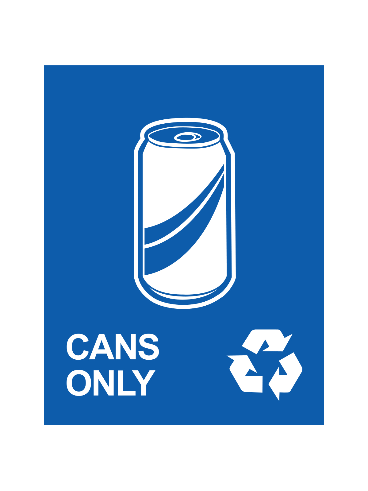 WASTE WATCHER® SIGN - CANS ONLY W/CANS LOGO & MOBIUS LOOP title=