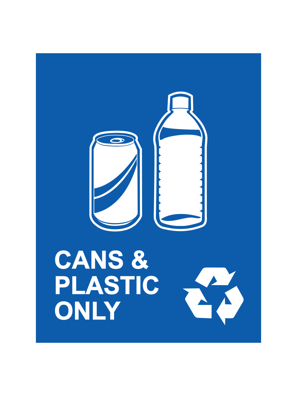 WASTE WATCHER® SIGN - CANS & PLASTIC ONLY title=