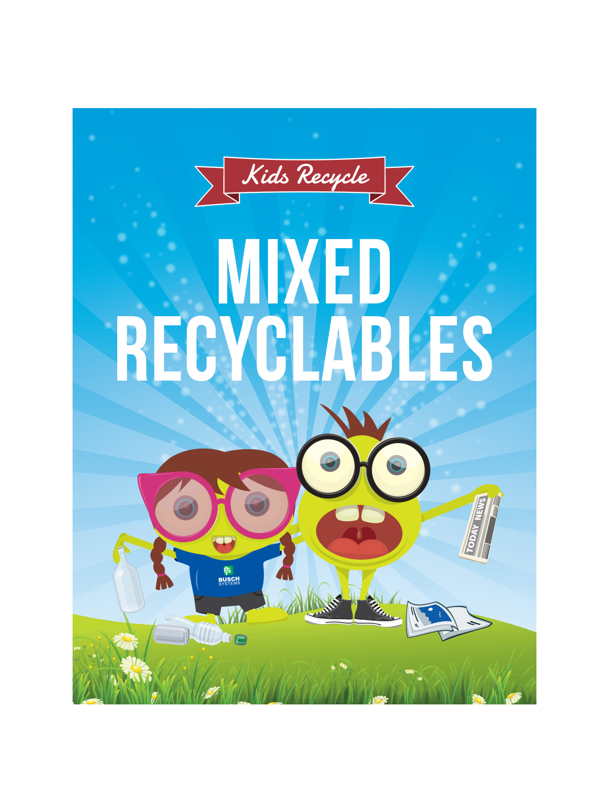 WASTE WATCHER® SIGN - MIXED RECYCLABLES