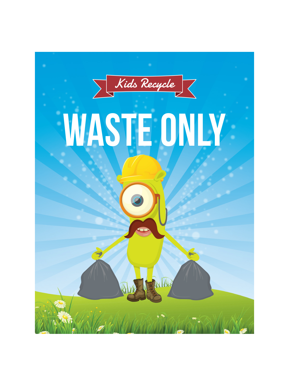 WASTE WATCHER® SIGN - WASTE ONLY title=
