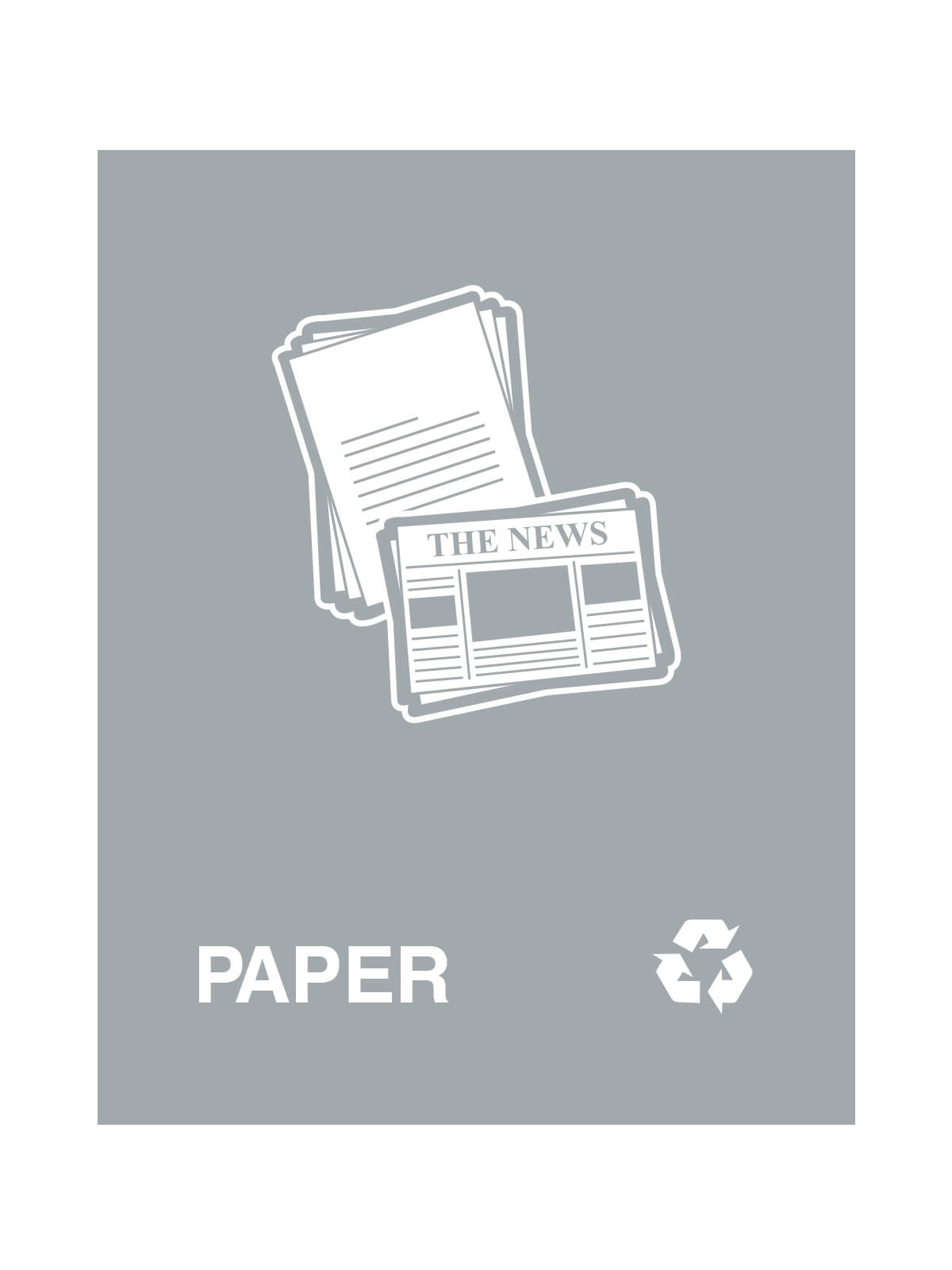 WASTE WATCHER® SIGN - PAPER ONLY W/PAPER LOGO & ML title=