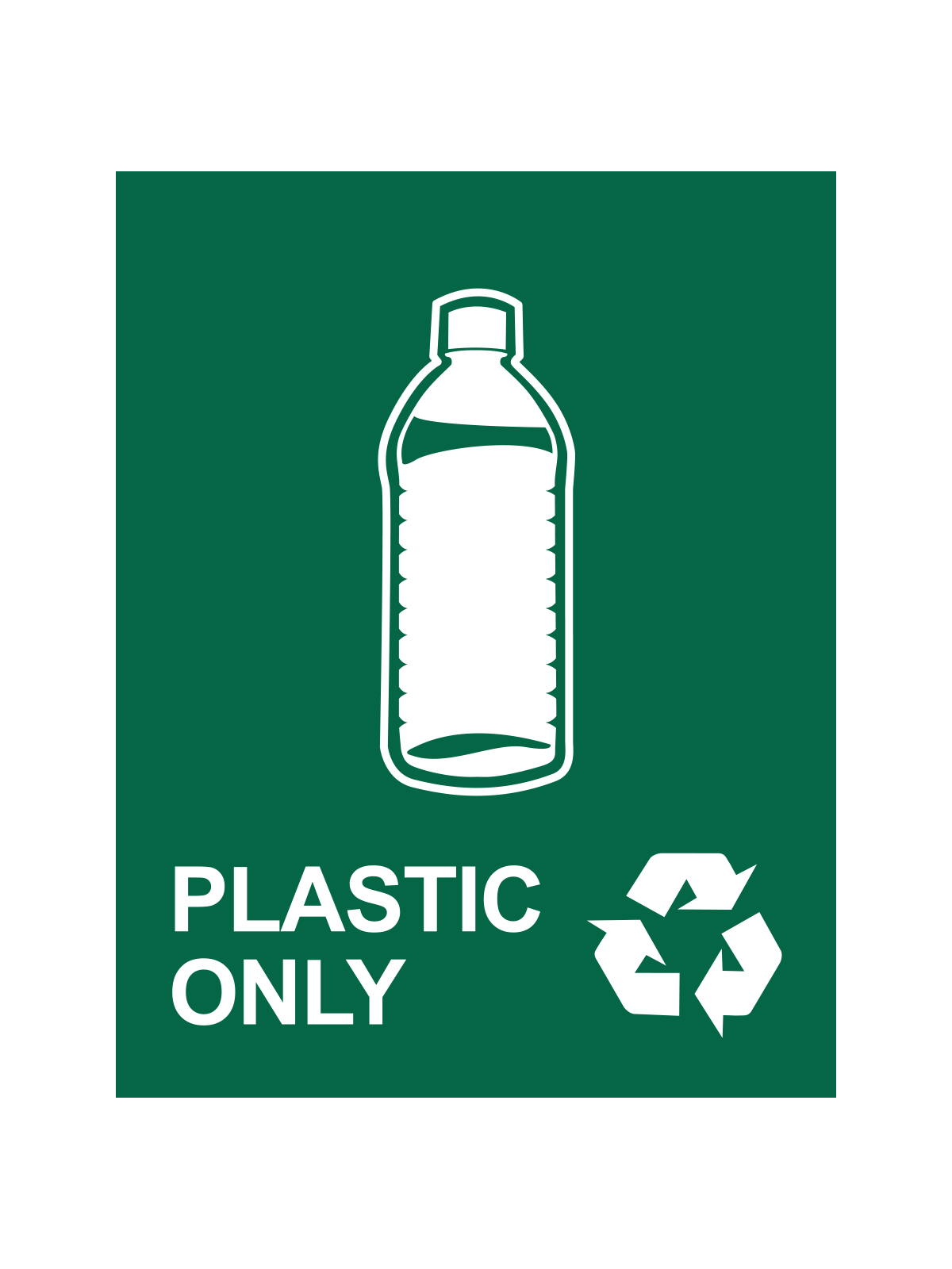 WASTE WATCHER® SIGN - PLASTIC ONLY W/ LOGO & ML title=
