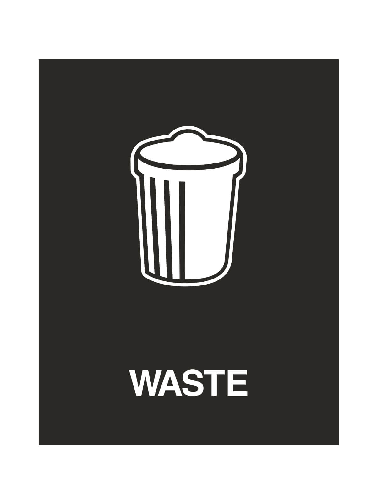 WASTE WATCHER® SIGN - WASTE ONLY W/GARBAGE CAN LOGO title=