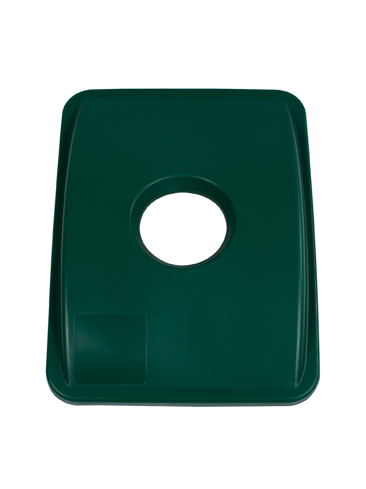 WASTE WATCHER® XL - LID - CIRCLE OPENING - DARK GREEN title=