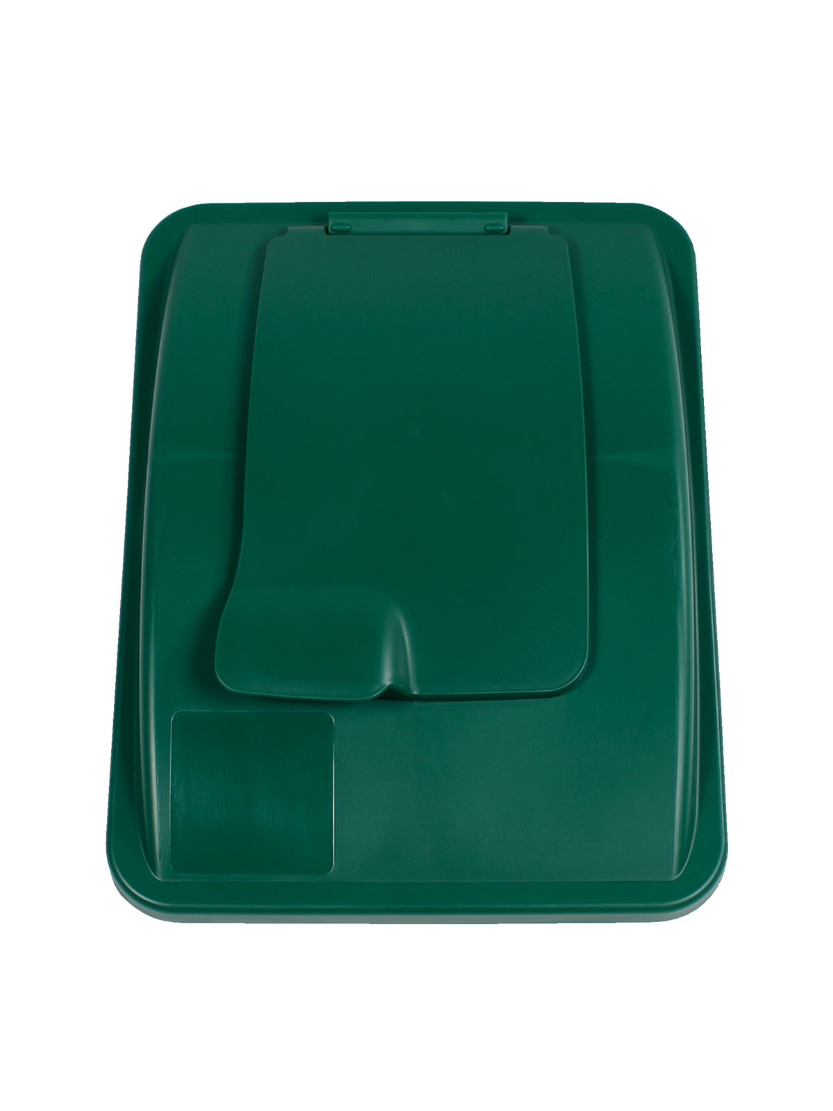 WASTE WATCHER® XL - LIFT LID - SOLID OPENING - DARK GREEN title=
