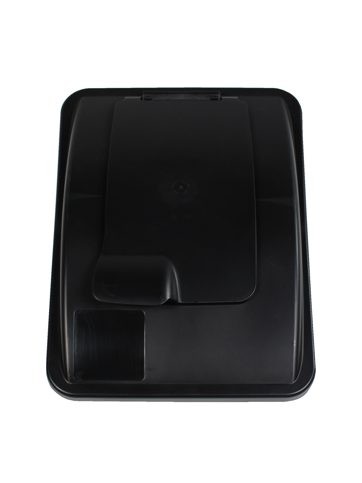 WASTE WATCHER® XL - LIFT LID - SOLID OPENING - BLACK title=