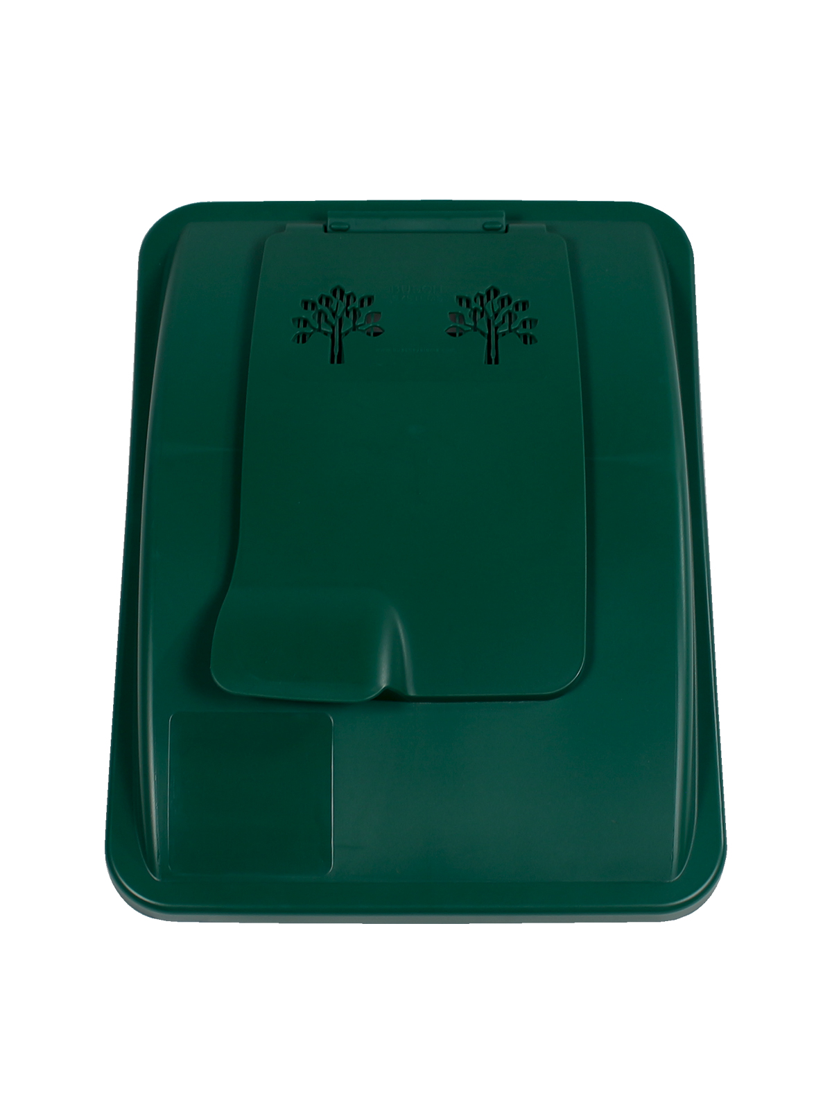 WASTE WATCHER® XL - LIFT LID - VENTED OPENING - DARK GREEN title=