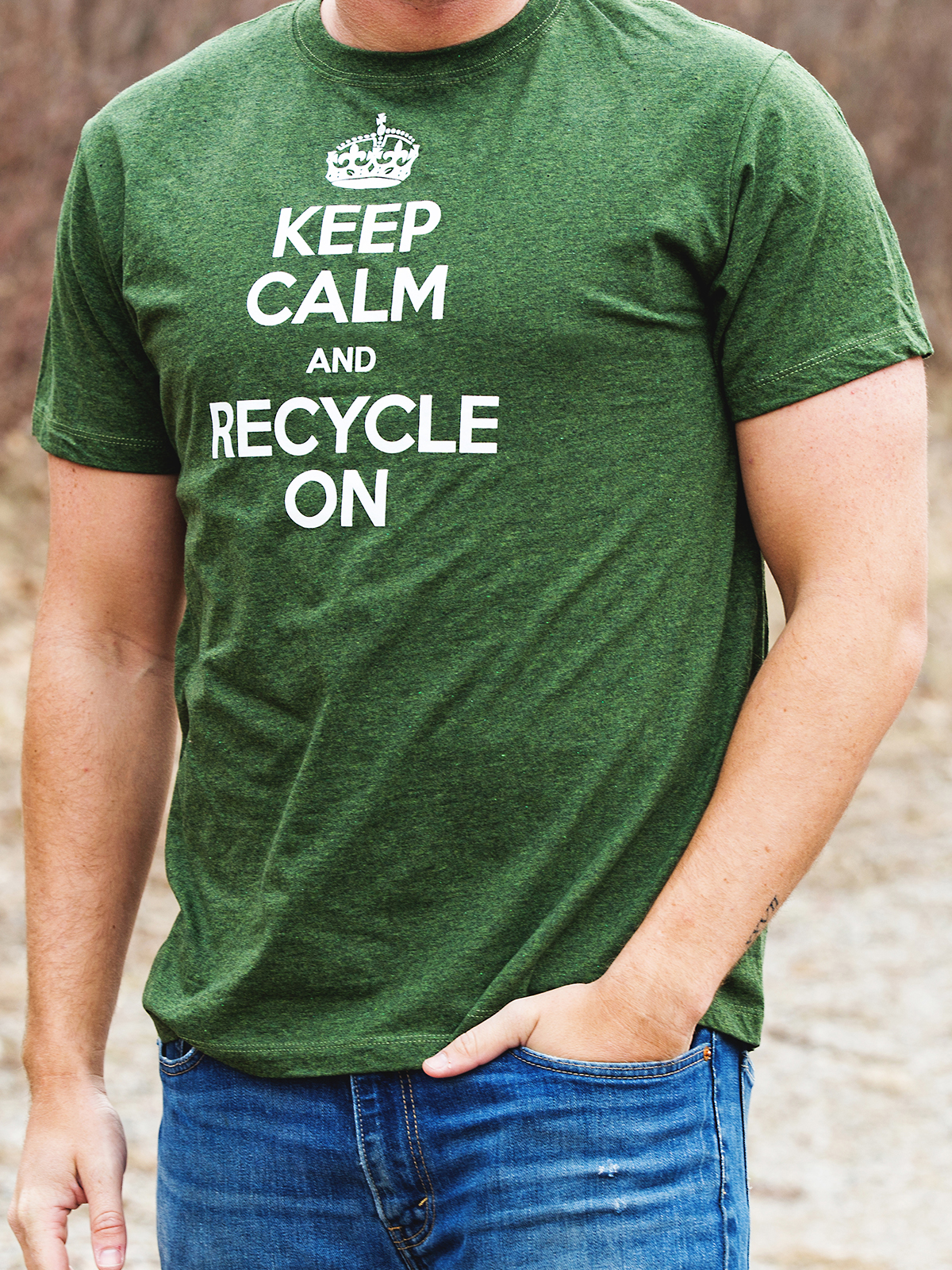 Keep Calm And Recycle On T Shirt