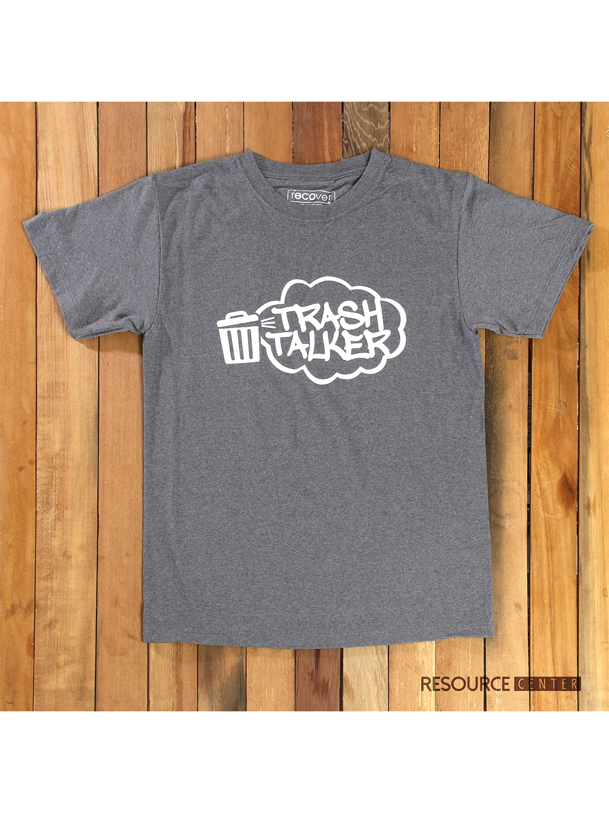 SUSTAINABLE T-SHIRT - LARGE - DARK GREY - TRASH TALKER